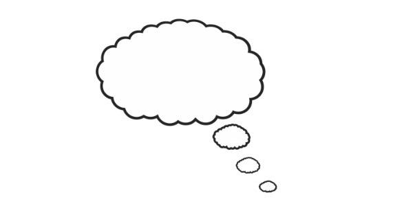 Eine Comic-Denkblase